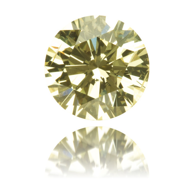Natural Yellow Diamond Round 1.11 ct Polished
