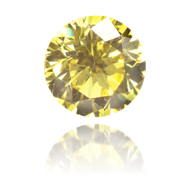 Natural Yellow Diamond Round 0.61 ct Polished