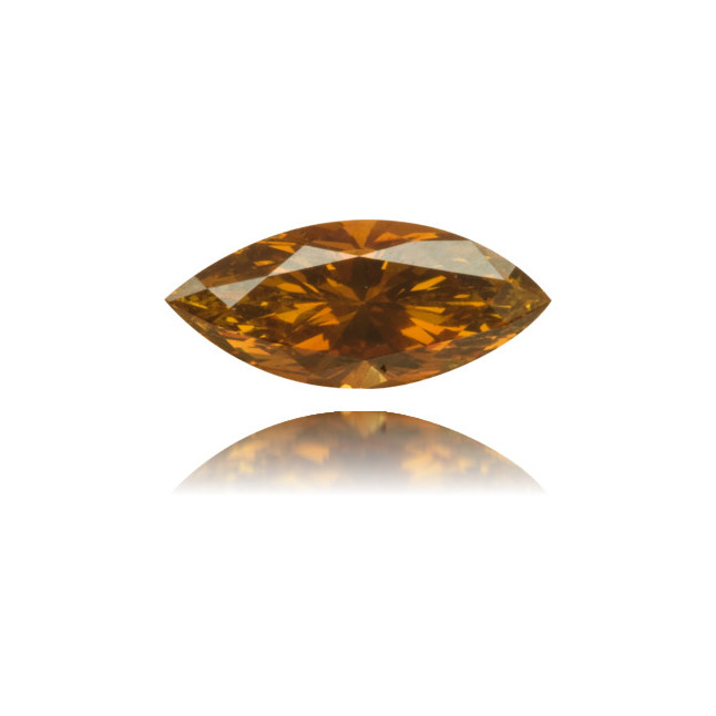 Natural Orange Diamond Marquise 0.56 ct Polished