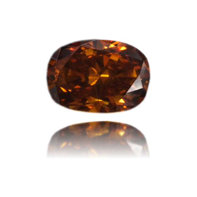 Natural Orange Diamond Oval 0.51 ct Polished