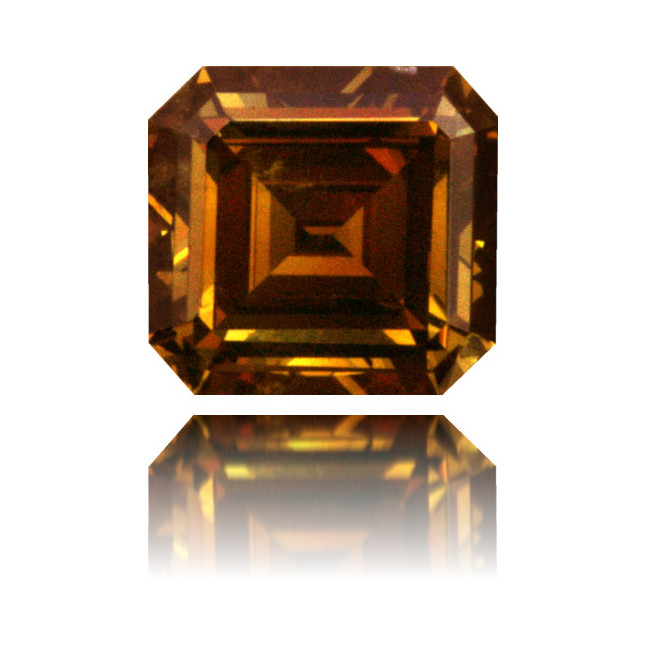 Natural Orange Diamond Square 0.57 ct Polished
