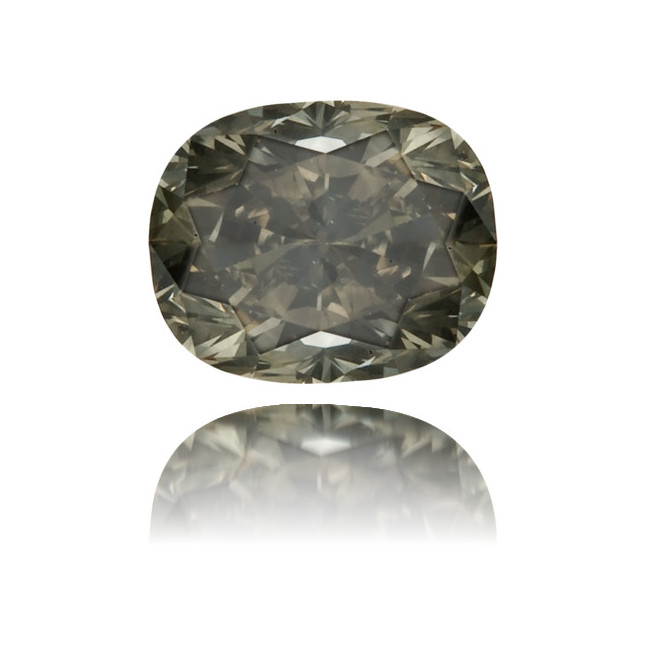 Natural Gray Diamond Oval 0.37 ct Polished