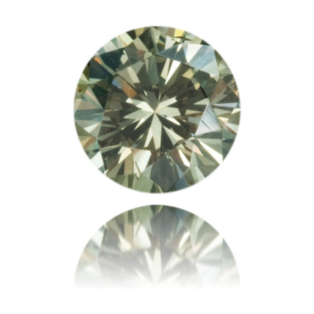 Natural Green Diamond Round 0.40 ct Polished