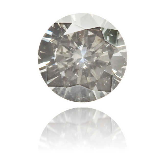 Natural Gray Diamond Round 0.17 ct Polished
