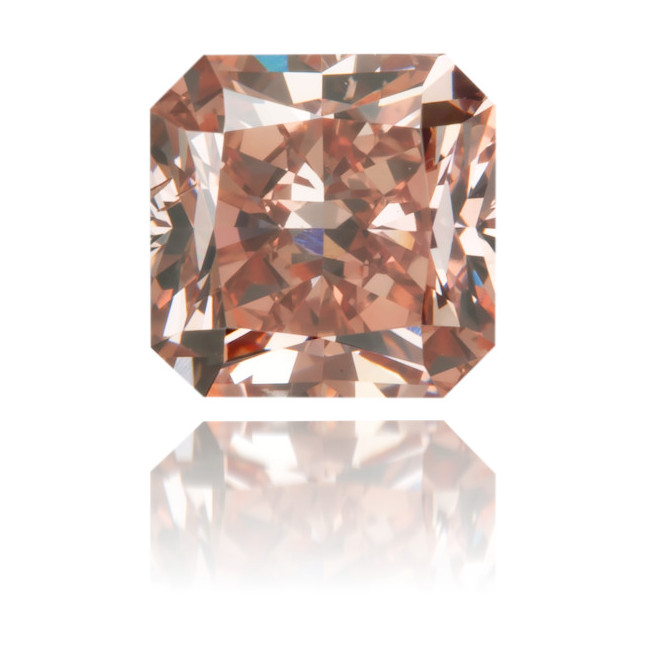 Natural Pink Diamond Square 0.78 ct Polished