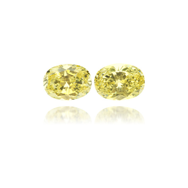 Natural Yellow Diamond Oval 1.66 ct Set