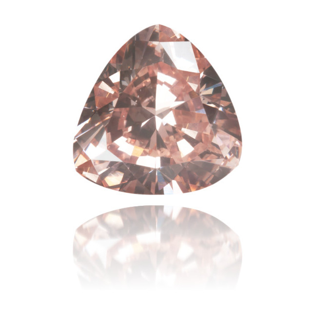 Natural Pink Diamond Triangle 1.02 ct Polished