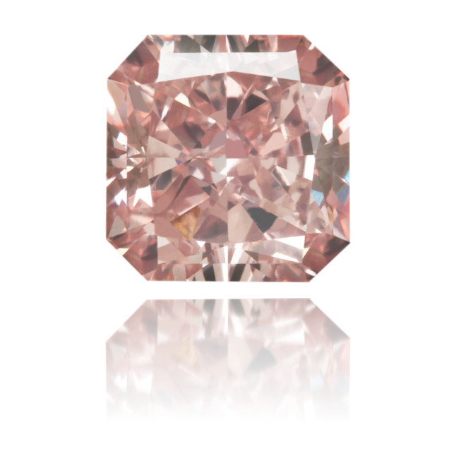 Natural Pink Diamond Square 0.55 ct Polished