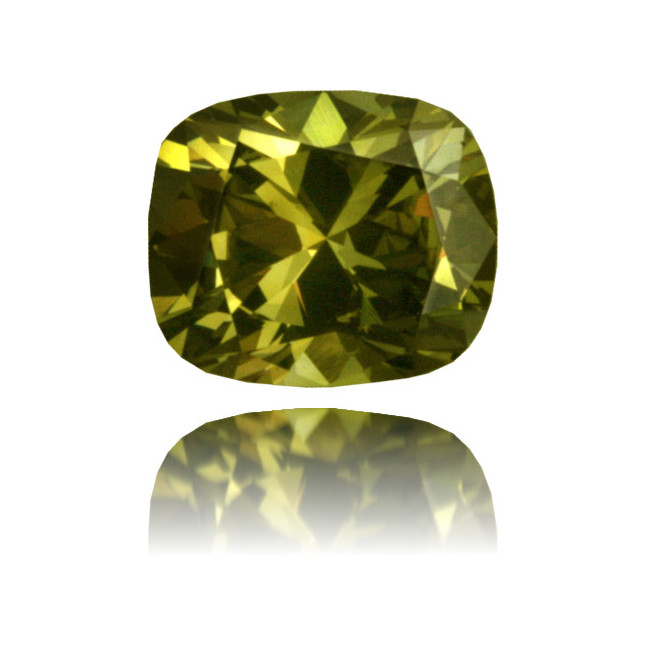 Natural Green Diamond Cushion 1.26 ct Polished