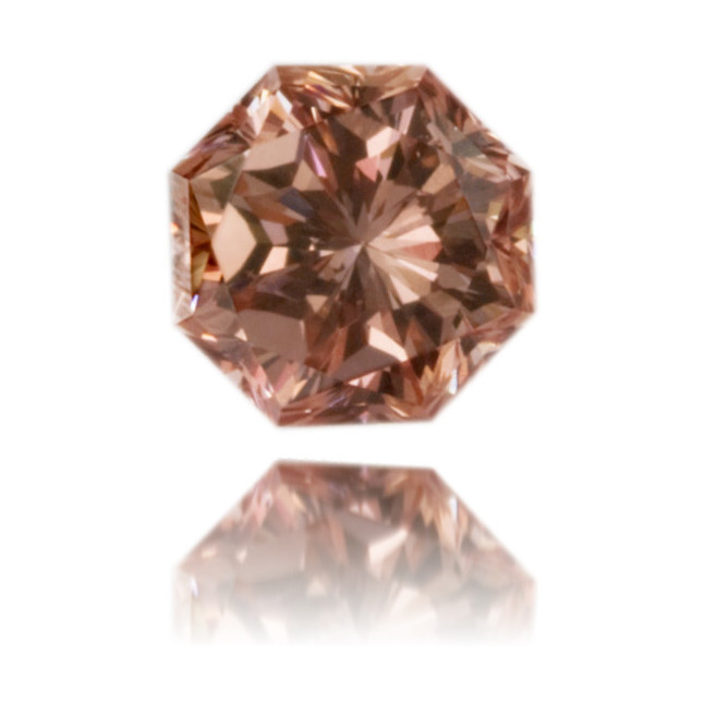 Natural Pink Diamond Octagon 0.19 ct Polished