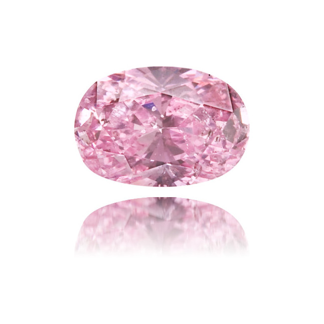 Natural Pink Diamond Oval 0.18 ct Polished