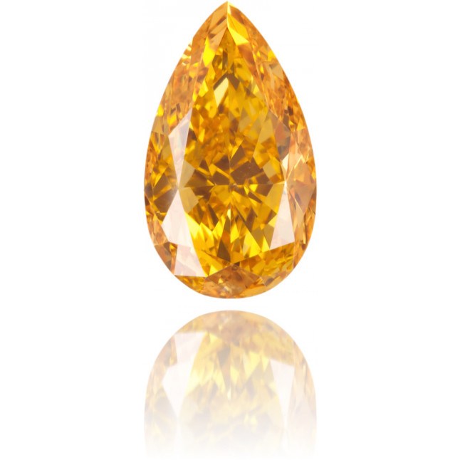 Natural Orange Diamond Pear Shape 0.91 ct Polished