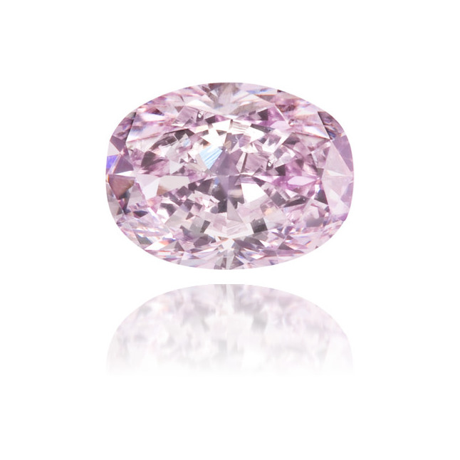 Natural Purple Diamond Oval 0.34 ct Polished
