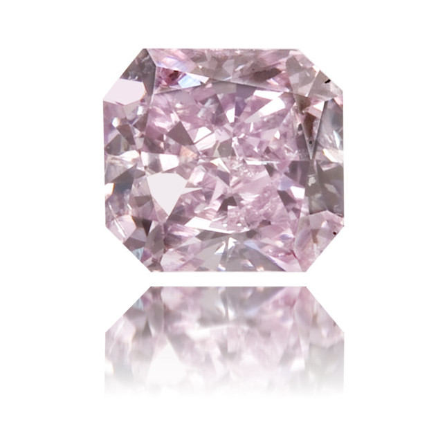 Natural Purple Diamond Square 0.34 ct Polished