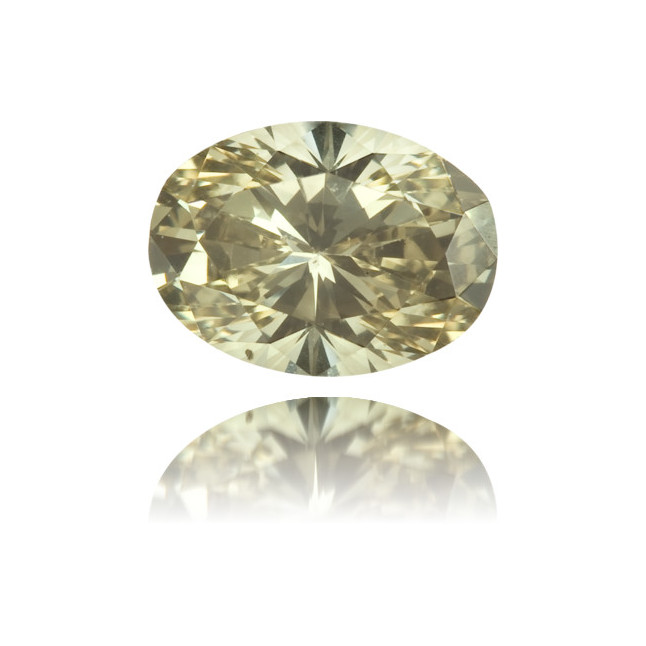 Natural Green Diamond Oval 0.46 ct Polished