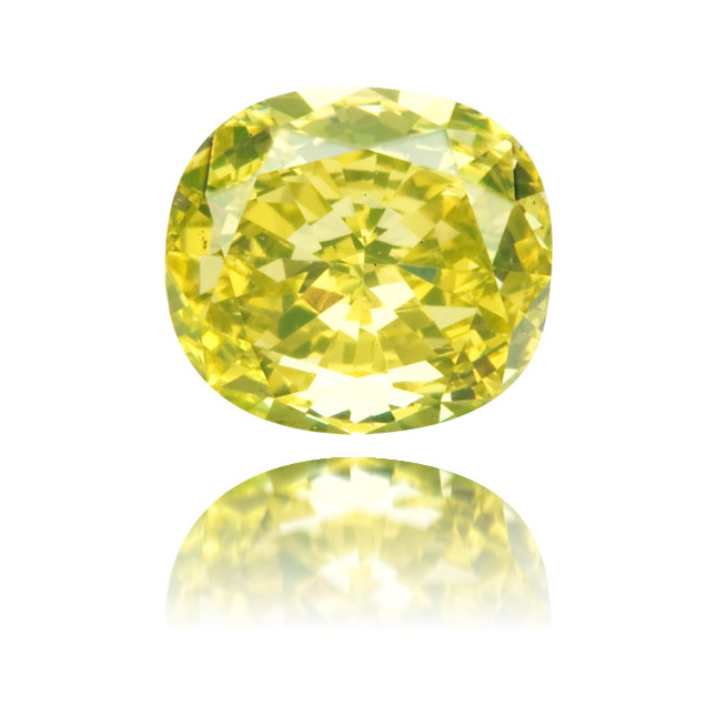 Natural Green Diamond Cushion 0.65 ct Polished