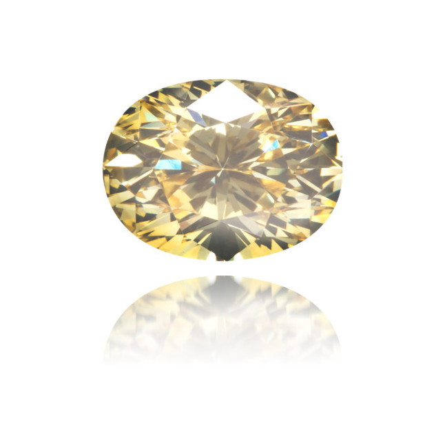 Natural Yellow Diamond Oval 0.82 ct Polished