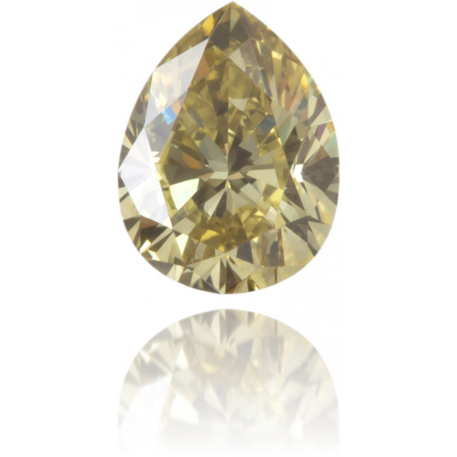 Natural Green Diamond Pear Shape 0.36 ct Polished