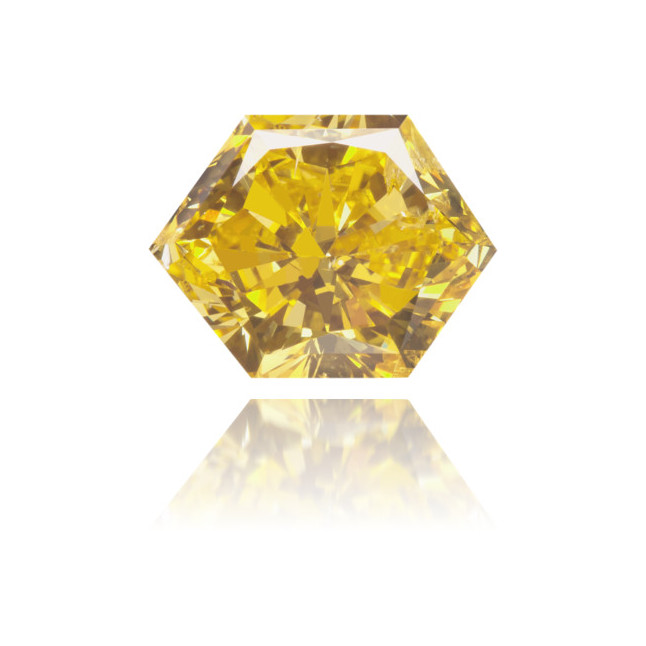 Natural Yellow Diamond Hexagon 1.59 ct Polished