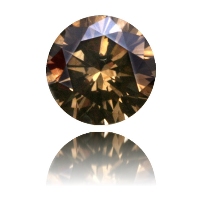 Natural Brown Diamond Round 0.79 ct Polished
