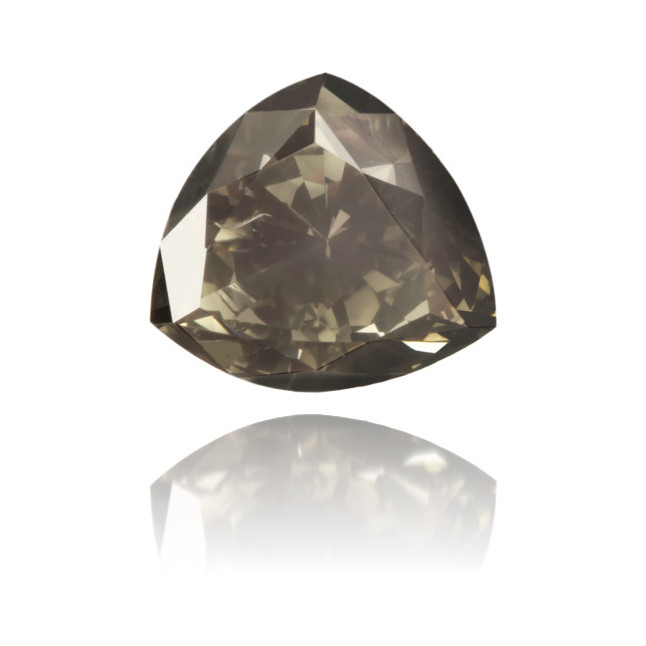 Natural Gray Diamond Triangle 1.02 ct Polished