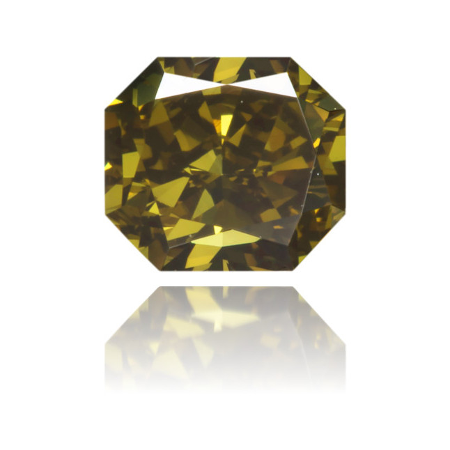 Natural Green Diamond Square 0.47 ct Polished