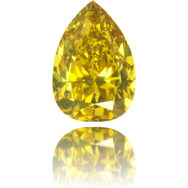 Natural Orange Diamond Pear Shape 0.39 ct Polished