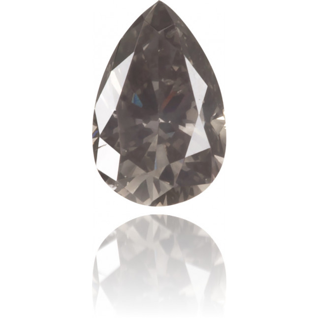 Natural Gray Diamond Pear Shape 0.15 ct Polished