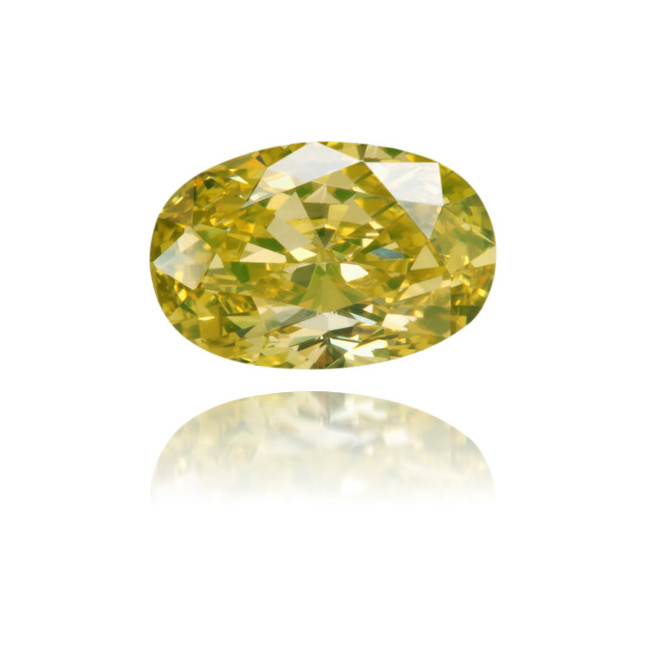 Natural Green Diamond Oval 0.42 ct Polished