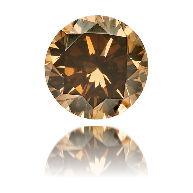 Natural Brown Diamond Round 0.42 ct Polished