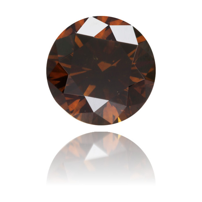 Natural Brown Diamond Round 0.85 ct Polished