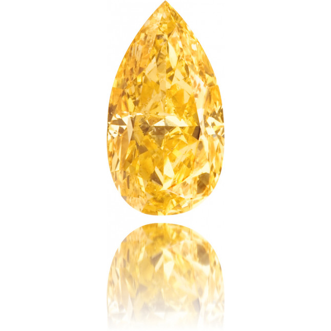 Natural Orange Diamond Pear Shape 0.51 ct Polished