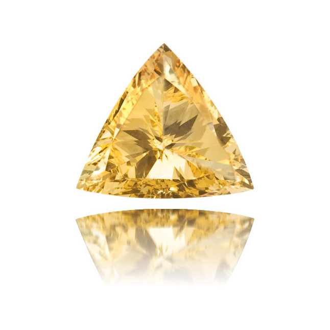 Natural Orange Diamond Triangle 0.30 ct Polished