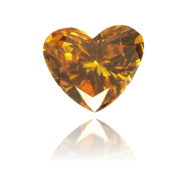 Natural Orange Diamond Heart Shape 0.19 ct Polished