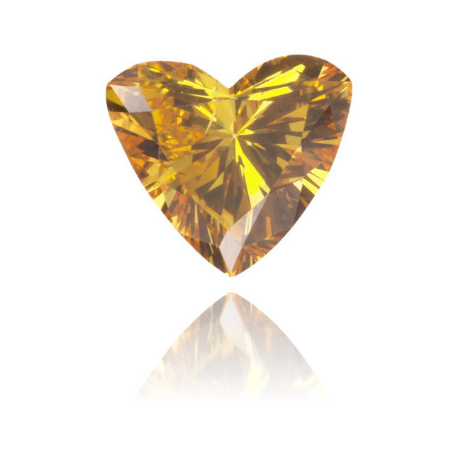 Natural Orange Diamond Heart Shape 0.21 ct Polished