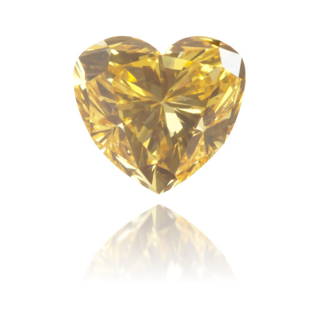 Natural Yellow Diamond Heart Shape 0.38 ct Polished