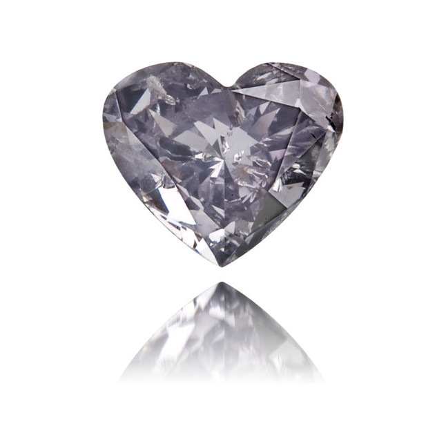 Natural Blue Diamond Heart Shape 0.20 ct Polished