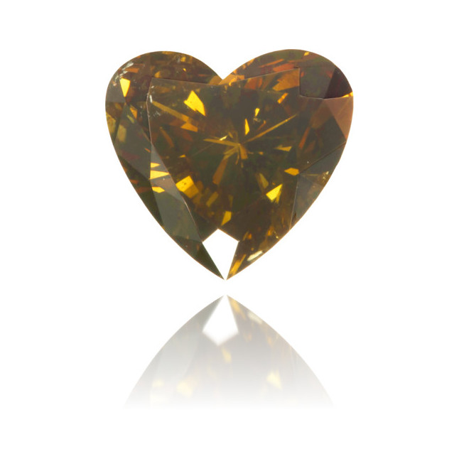 Natural Brown Diamond Heart Shape 0.80 ct Polished