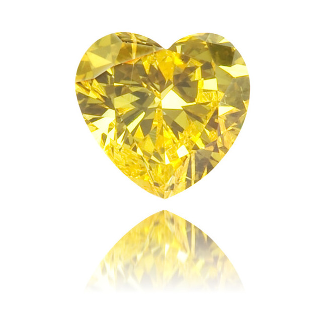 Natural Yellow Diamond Heart Shape 0.12 ct Polished