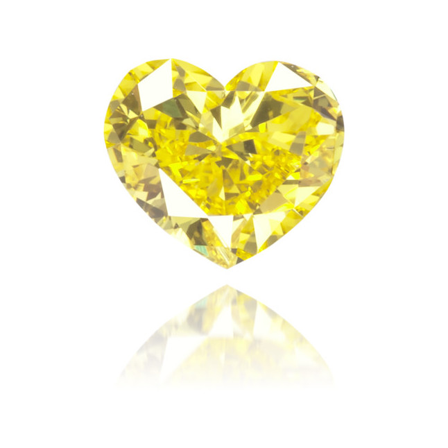Natural Yellow Diamond Heart Shape 0.17 ct Polished