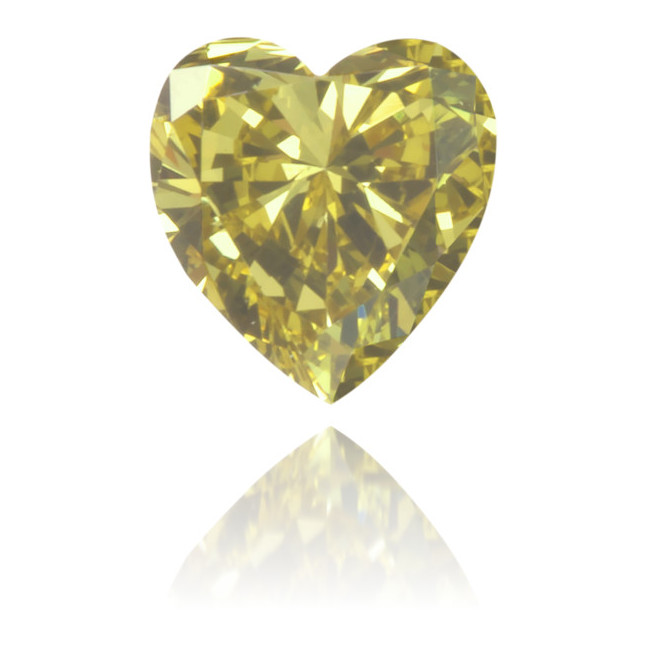 Natural Green Diamond Heart Shape 0.17 ct Polished
