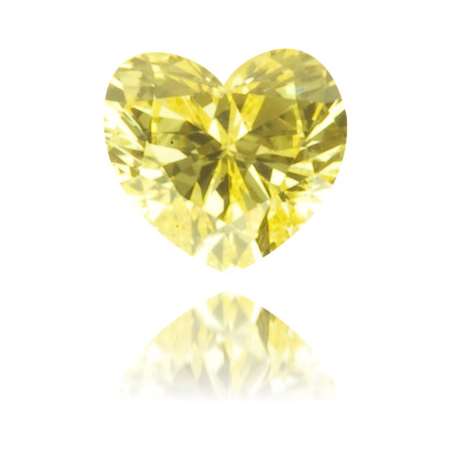 Natural Yellow Diamond Heart Shape 0.10 ct Polished