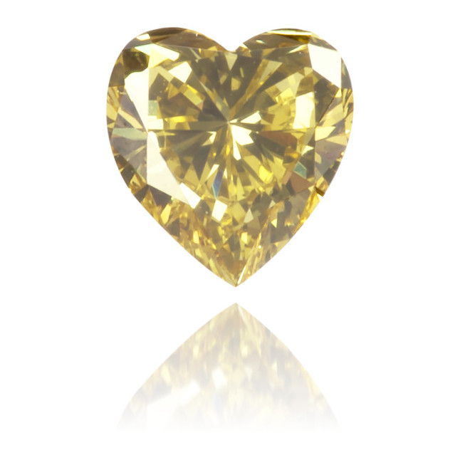 Natural Green Diamond Heart Shape 0.27 ct Polished