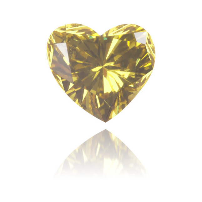 Natural Green Diamond Heart Shape 0.32 ct Polished