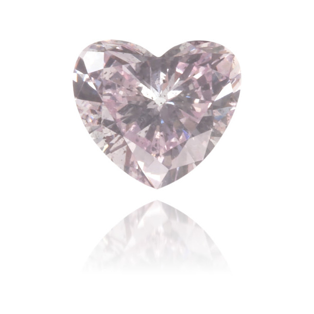 Natural Pink Diamond Heart Shape 0.13 ct Polished