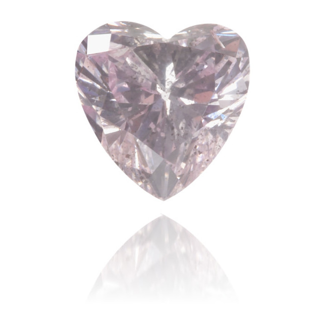 Natural Pink Diamond Heart Shape 0.31 ct Polished