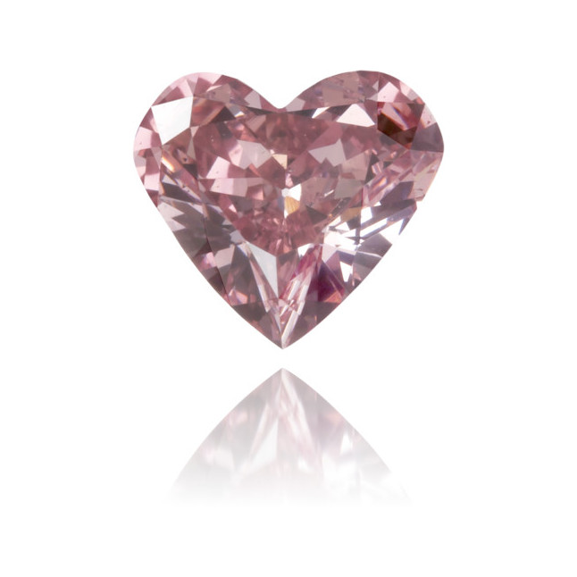 Natural Pink Diamond Heart Shape 0.40 ct Polished