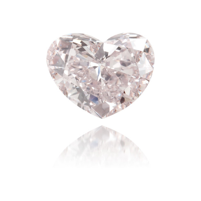 Natural Pink Diamond Heart Shape 0.26 ct Polished