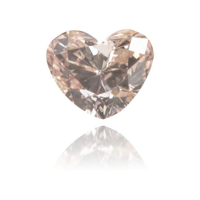 Natural Pink Diamond Heart Shape 0.51 ct Polished