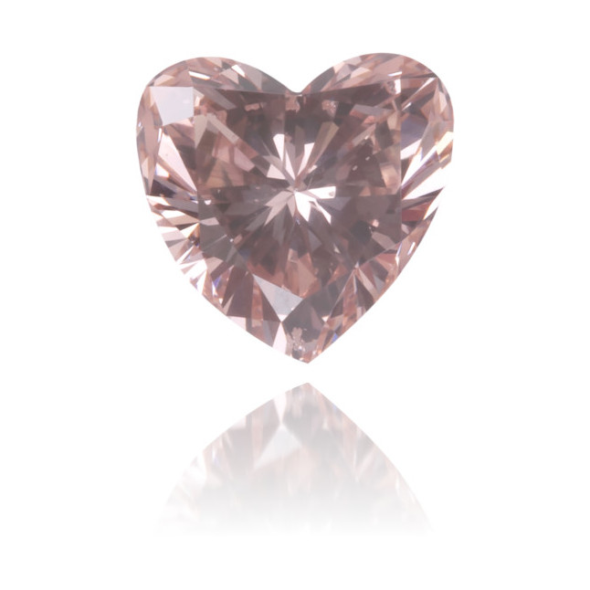 Natural Pink Diamond Heart Shape 0.33 ct Polished